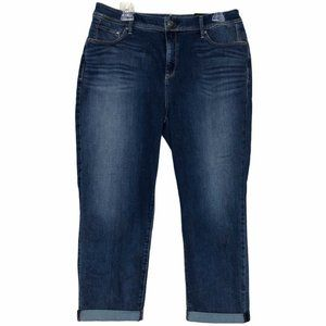 Chico's So Slimming Girlfriend Crop Jeans- Size 12